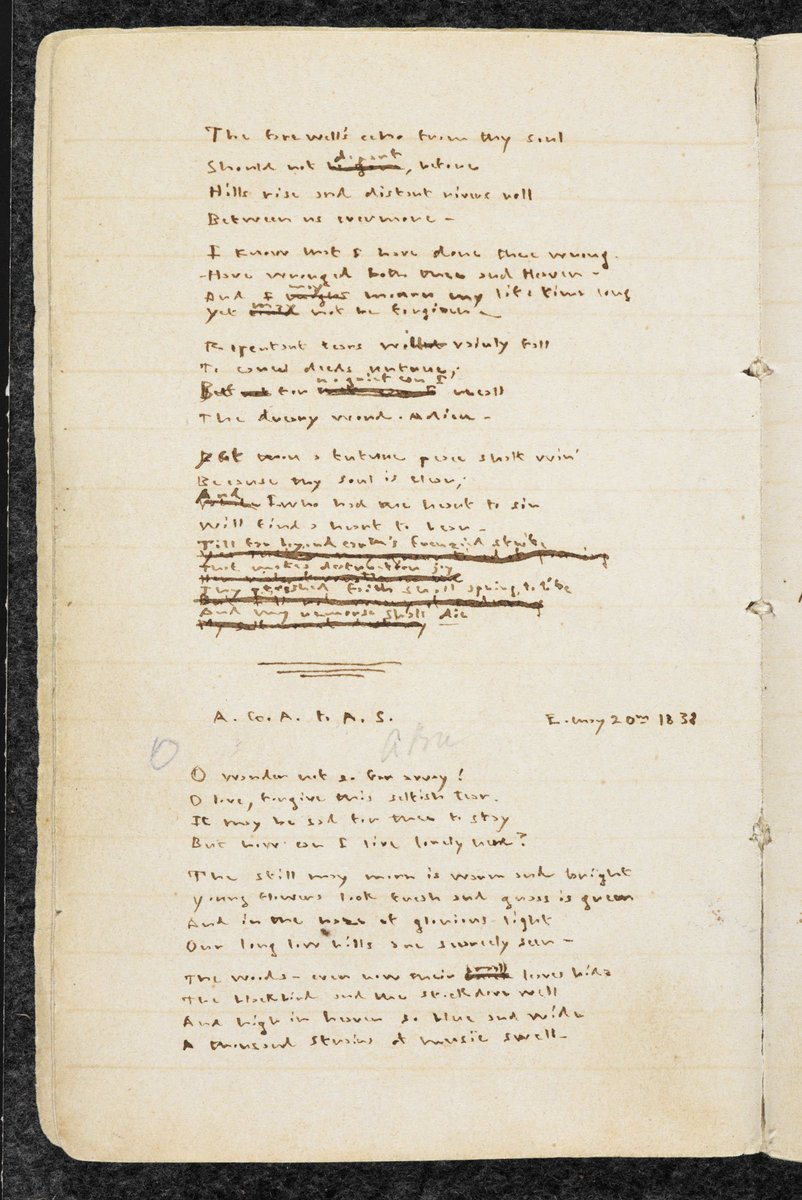 test Twitter Media - Emily Brontë used the Yorkshire moors as inspiration long before Wuthering Heights: her and her sister Anne's imaginary island of Gondal bears quite a resemblance to their native county. See Emily's poems about Gondal in #BLTreasures https://t.co/srAd9UyH3A https://t.co/JcCCyJovmu
