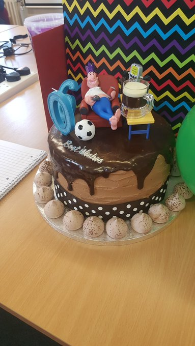 Awesome birthday cake at this morning\s Strategy time out. Well done Liz and happy birthday Brian!
