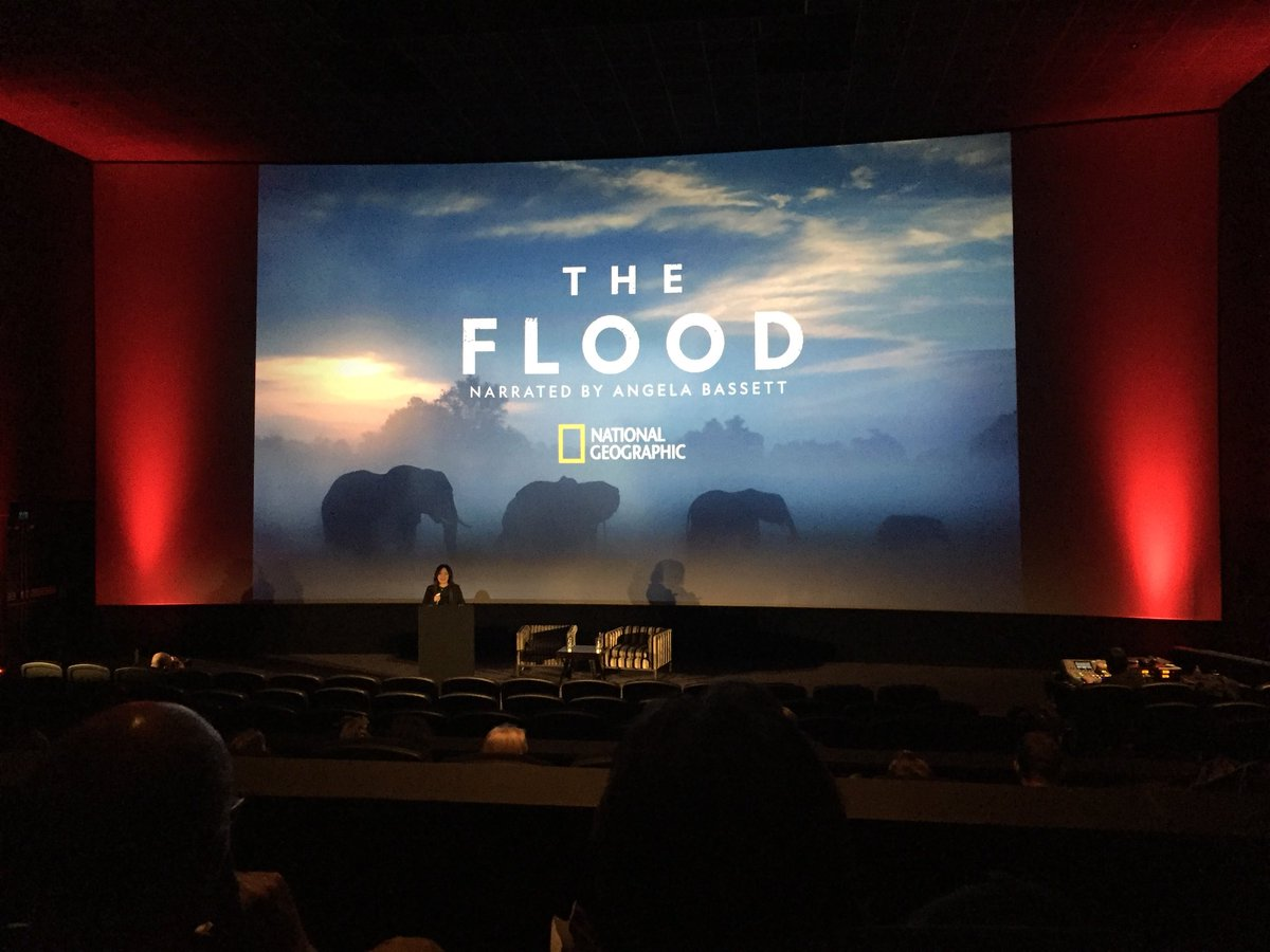Kicking off at #TheFlood world premiere with @natgeo's SVP of Development & Production, Janet Vissering introducing the film @WildscreenFest #wildscreenfest #worldpremiere #premiere #tvnews #naturalhistory #filmmaking @NhfuBots @NatGeoPR https://t.co/hZIQrATqTp