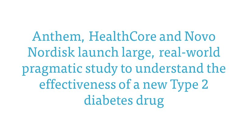 test Twitter Media - We're working together with @AnthemInc and @novonordiskus to launch a large, real-world pragmatic study to understand the effectiveness of a new Type 2 diabetes drug. https://t.co/gz72DuH5AU #type2diabetes #diabetes #research https://t.co/i5fcKWUdfG
