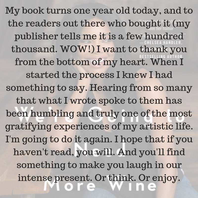 My book turns 1 yr old today! #WereGonnaNeedMoreWine????  ⇩ ⇩ ⇩ https://t.co/CQfwyXKx6K