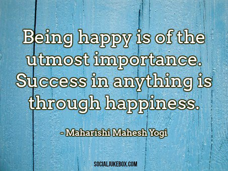 test Twitter Media - Being happy is of the utmost importance. Success in anything is through happiness. - Maharishi Mahesh Yogi #quote #thursdaythoughts https://t.co/oDnoaQcW07