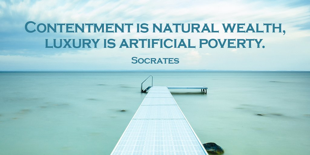 test Twitter Media - Contentment is natural wealth, luxury is artificial poverty. - Socrates #quote   #ThursdayThoughts https://t.co/VQLCRiu50T