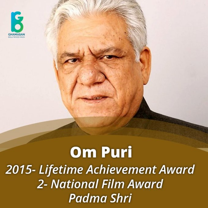 """Happy birthday to \""""om puri\"""" great actor......"""