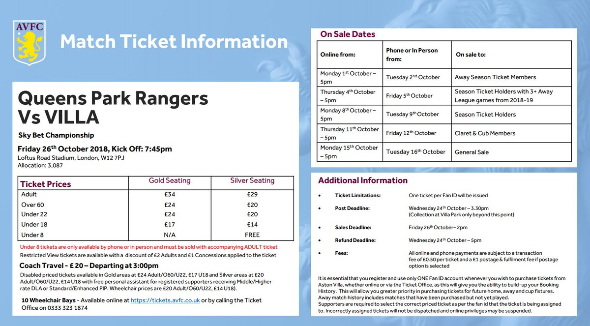 @CallowJunior Hi Mark, prices can be found in 'Match ticket Information'. 🎟️👇 https://t.co/VUFypZUQdi