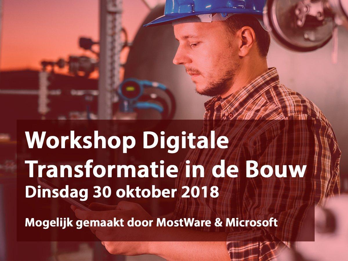 test Twitter Media - Workshop Digitale Transformatie in de Bouw - Unieke gratis workshop van MostWare en Microsoft. https://t.co/vjavAhHwJ6 Schrijf je nu in. #bouw #workshop https://t.co/pFcHQze8pE