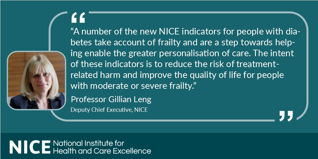 test Twitter Media - On Wednesday, NICE published new indicators for use in general practice, the majority focusing on #diabetes and/or frailty. Read full list here: https://t.co/VmUrXNx5jP https://t.co/KlSWMcWTVC