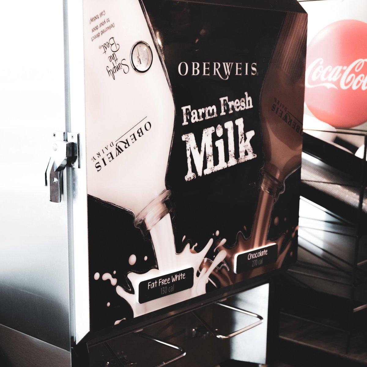 Bottomless Oberweis chocolate milk at TBJ. Every. Single. Day. #thatburgerjoint #oberweis #chocolatemilk