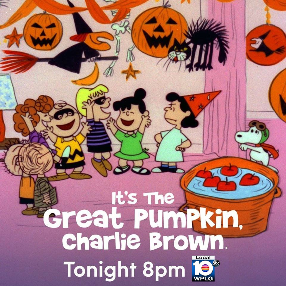 its the great pumpkin charlie brown airs tonight at 8 pm on wplglocal10 halloween mostsincere pumpkinpatch httpstcovp4jhonvqy