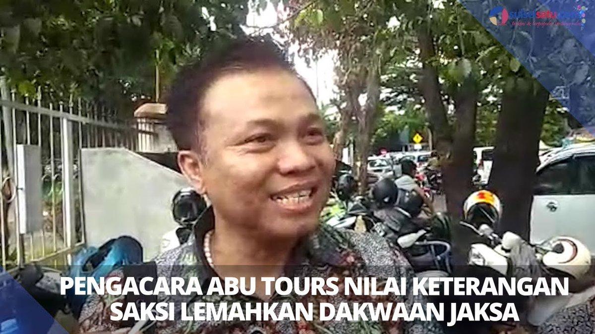 VIDEO: Pengacara Abu Tours Nilai Keterangan Saksi Lemahkan Dakwaan Jaksa https://t.co/P9CewAYy5U