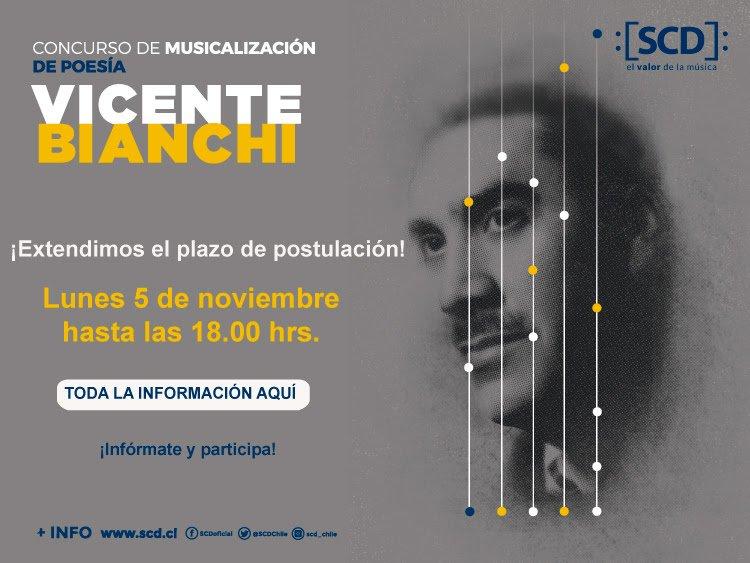 test Twitter Media - ¡Demuestra tu talento como compositor!  Hasta este lunes 05 de noviembre puedes participar en la sexta versión del concurso de musicalización de poesía Vicente Bianchi 👉 https://t.co/h2Lmc5U8MW https://t.co/9LLS727S7h