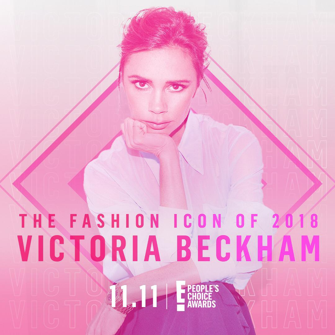 So excited to receive the Fashion Icon Award at @peopleschoice November 11th! x VB #PCAs #VBSince08 https://t.co/lmf4nxdbGH
