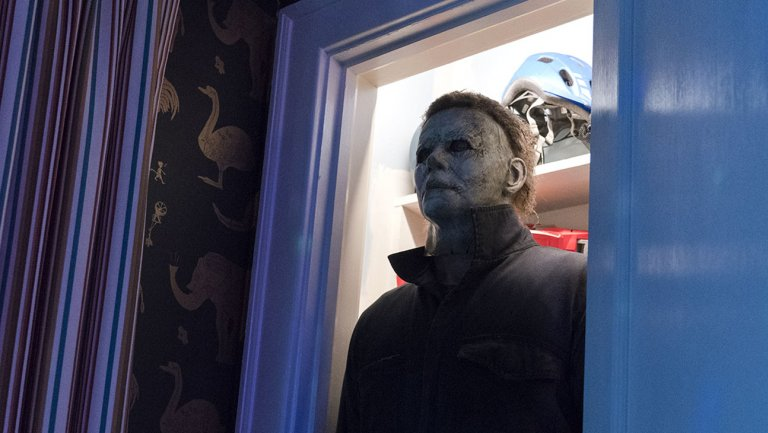 Creepy HalloweenMovie opening scene was added late in the game