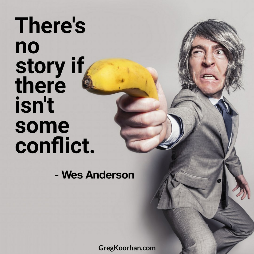 There's no story if there isn't some conflict. #wesanderson #storytelling quoteoftheday dontsellmetellme https://t.co/v8LKSKSod2