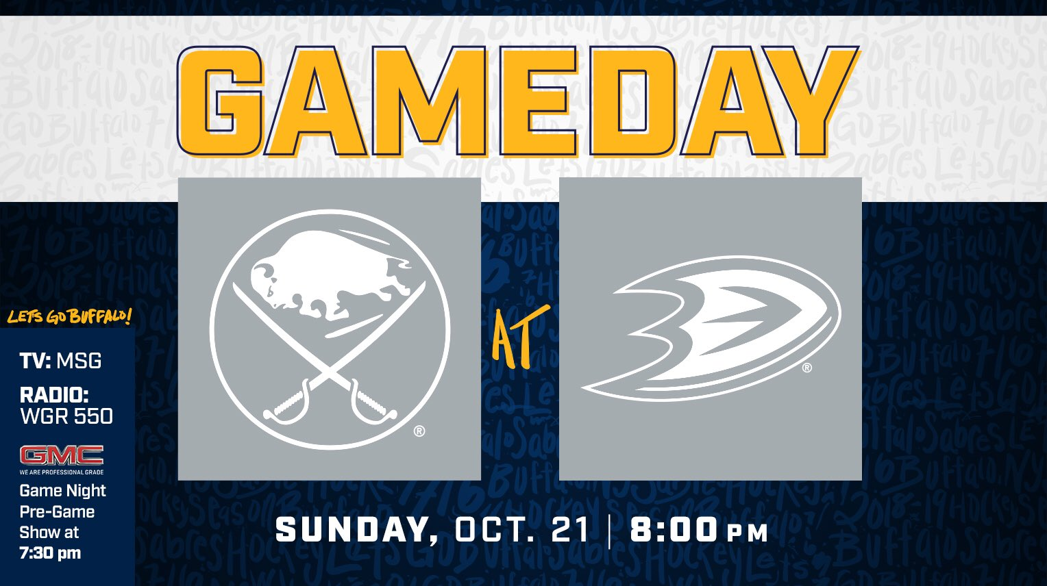Let's finish the road trip strong.  #LetsGoBuffalo #Sabres https://t.co/mA9qT78NqC