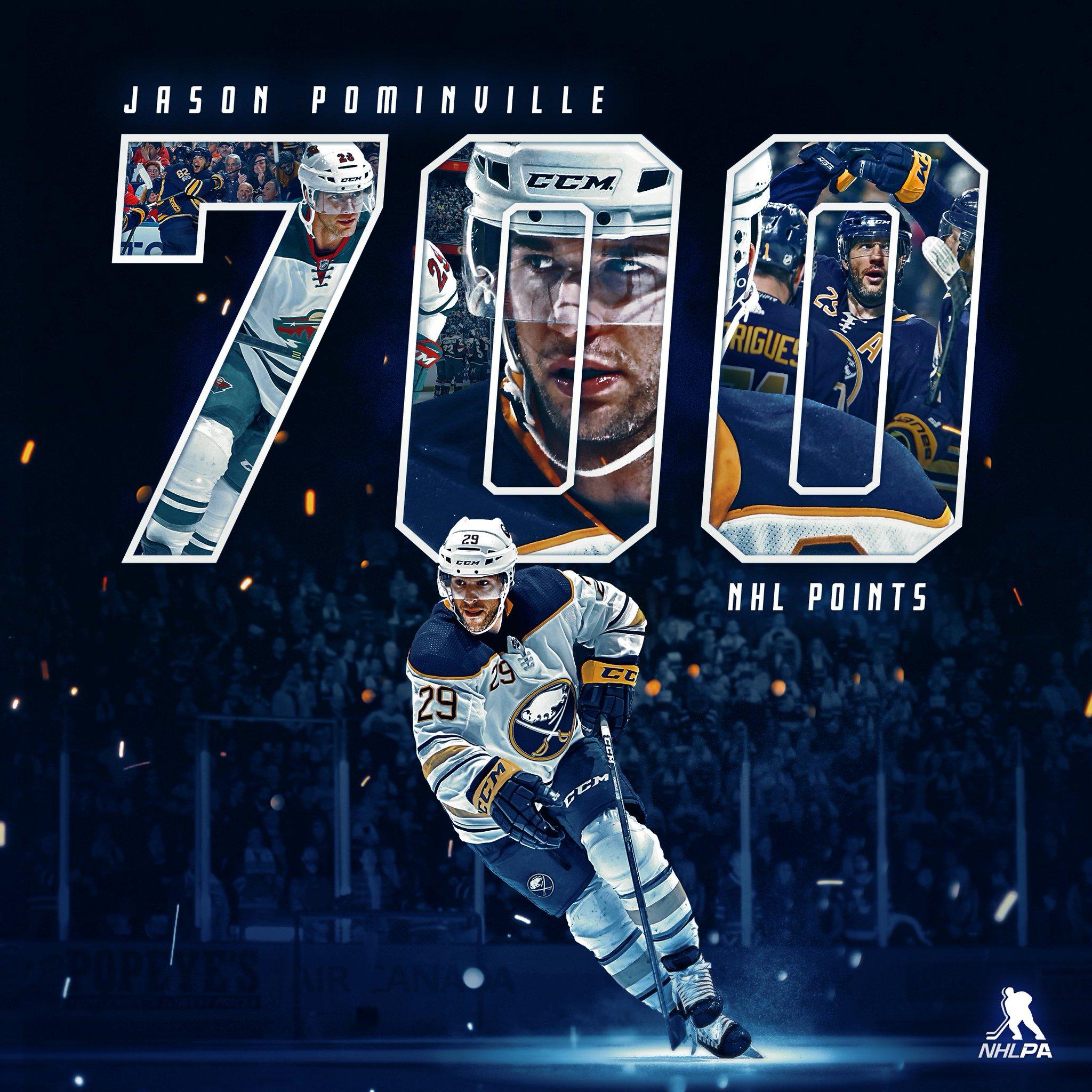 Jason Pominville: scorer of 700 NHL points. https://t.co/JZstRKBfQ8