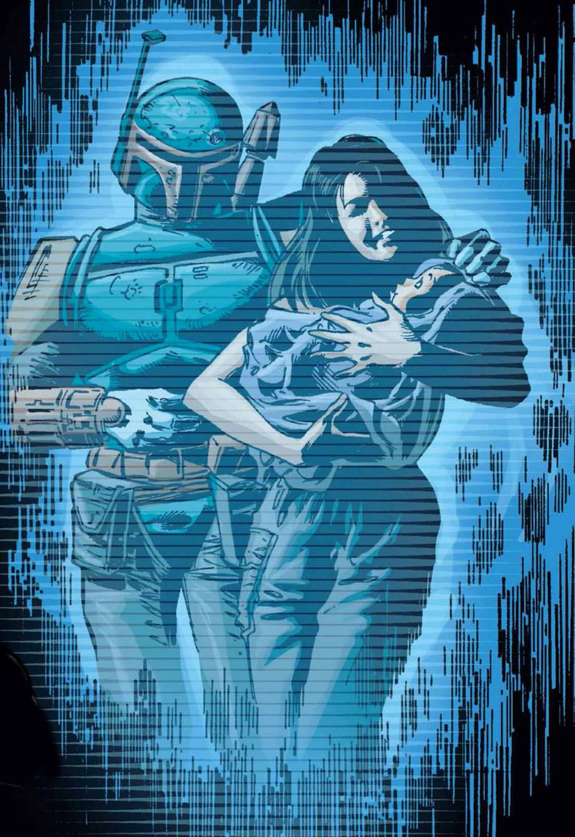RT @BobaFettTalk: Hologram of Boba Fett and his wife Sintas Vel with their daughter Ailyn. https://t.co/WvM8BVb5cR