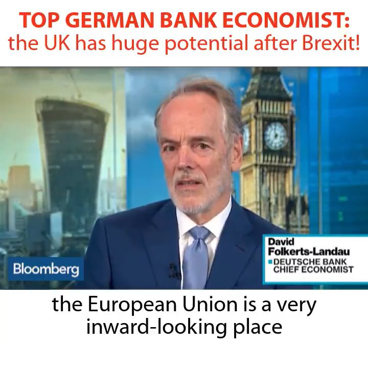 What will the UK economy look like in ten years? The Chief Economist at Germany's largest bank, Deutsche Bank, says that if we can do our own trade deals with the rest of the world, the outlook is positive 👍 https://t.co/LO7MRXaKAZ