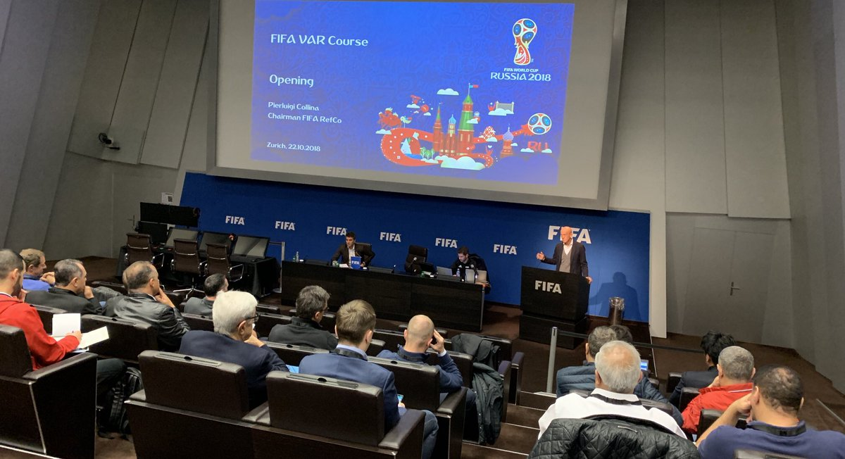FIFA VAR Course for Member Associations officially opened in Zurich. During this week, the MA representatives will be taught how to organize and educate referees as VARs in their competitions. #FootballTechnology https://t.co/onUHYpNc9G