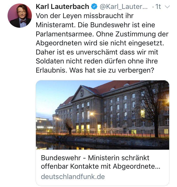 RT @_lnnen_WT: Auch Lauterbach hat seine lichten Momente .. https://t.co/Pq2qxieXM7