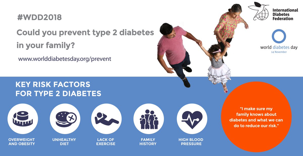 test Twitter Media - Up to 80% of type 2 #diabetes is preventable by adopting a healthier lifestyle. Help us raise awareness  of the risk factors this November. https://t.co/2OvGi3qsq5 #WDD2018 https://t.co/QbcdWhdELJ