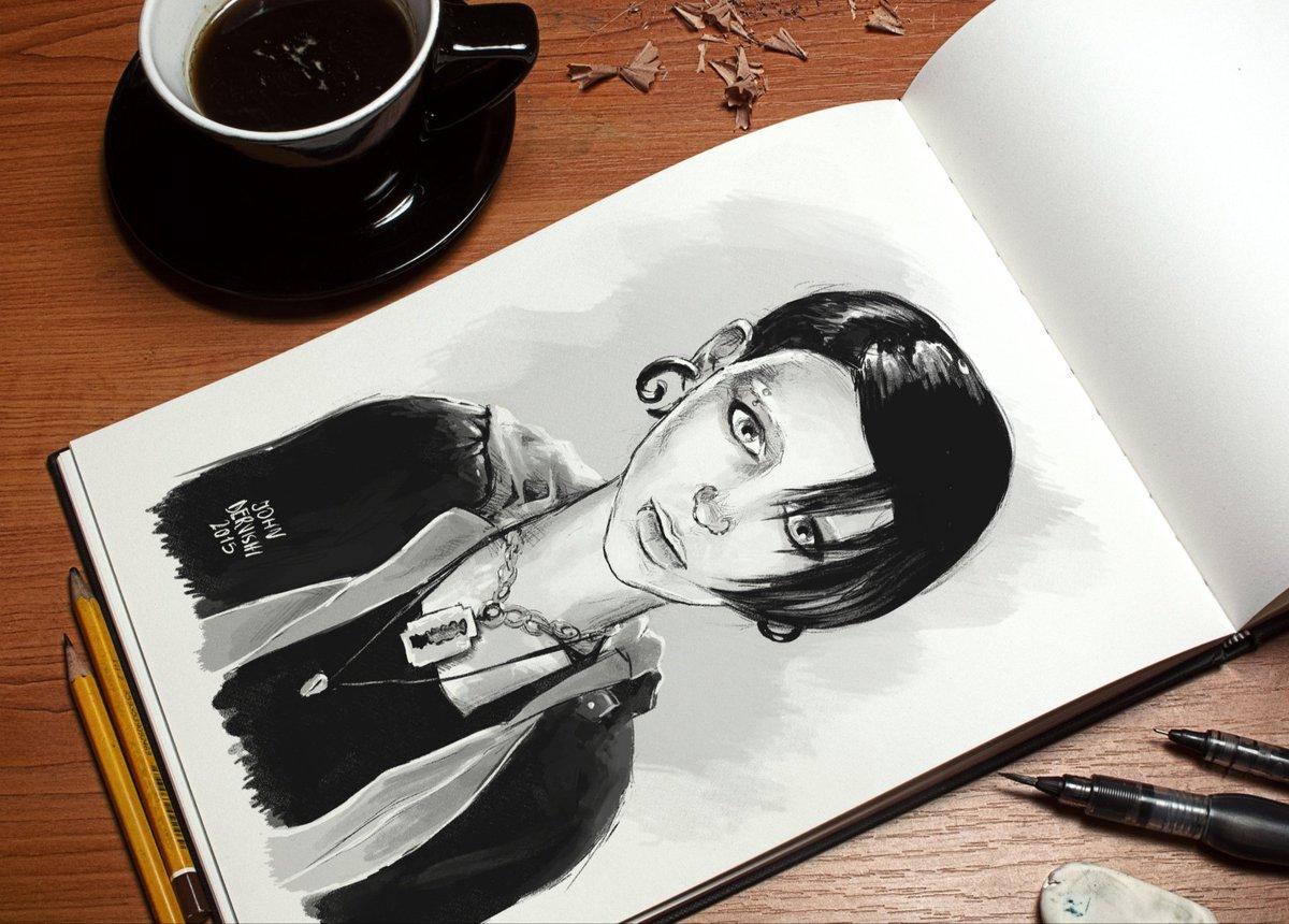 Sketch of Rooney Mara as The Girl with the Dragon Tattoo #rooneymara #lisbethsalander  #davidfincher #art #inktober https://t.co/BDfgFrldC1