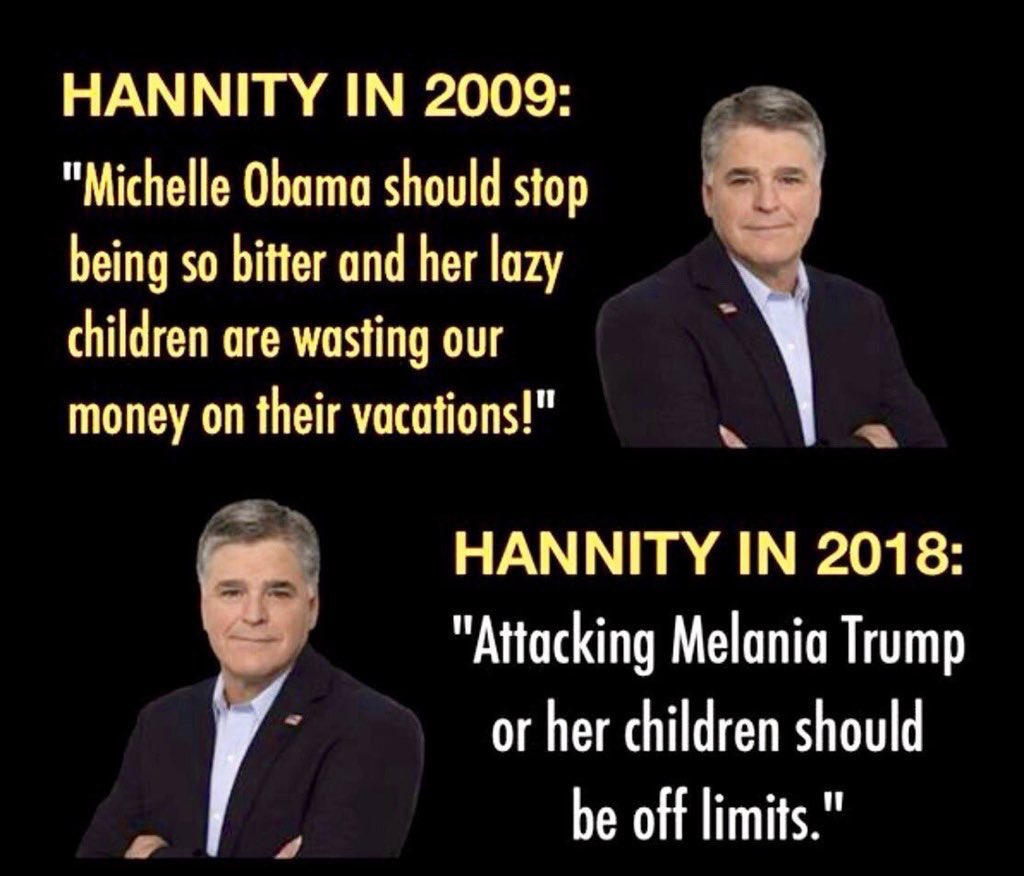 RT @TheTallSwede: Question: The definition of being a hypocrite? Answer: @seanhannity https://t.co/O1QKCHnz5a