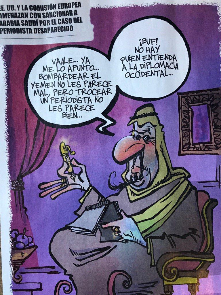 RT @kapdigital: Esto mio, sobre #Khashoggi y #SaudiArabia en @eljueves de esta semana... https://t.co/QbFNPRJKB8
