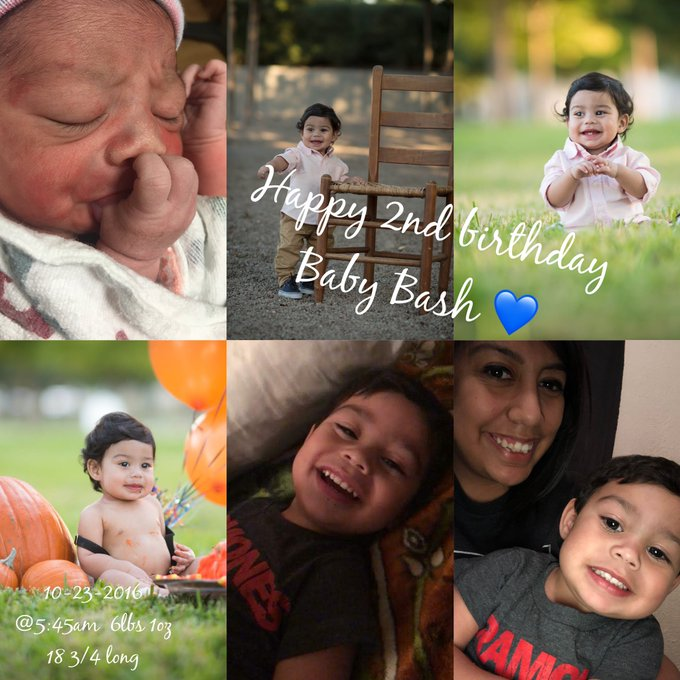So if y all see me crying just know I have a 2yr old now  Happy birthday Baby Bash