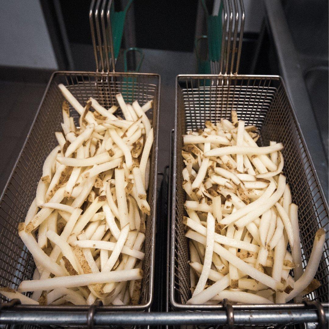 them fries, this morning. #freshcutfries #idahopotatoes #thatburgerjoint