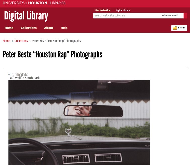 "test Twitter Media - A New Online Digital Collection from the @UHoustonLib: ""Peter Beste 'Houston Rap' Photographs"" https://t.co/G2ut0E7oBa  #music #culture https://t.co/bljOuh6OWb"