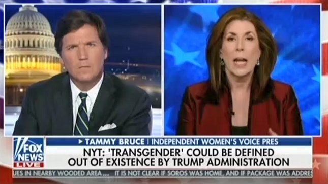 Tucker Carlson claims that the government recognizing the trans community would hurt women https://t.co/AOpxuwuTRj https://t.co/jTgI6y2BKX