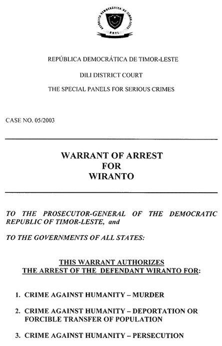 Front page of one of #Wiranto's indictments for crimes against humanity / murder, deportation and persecution. /3