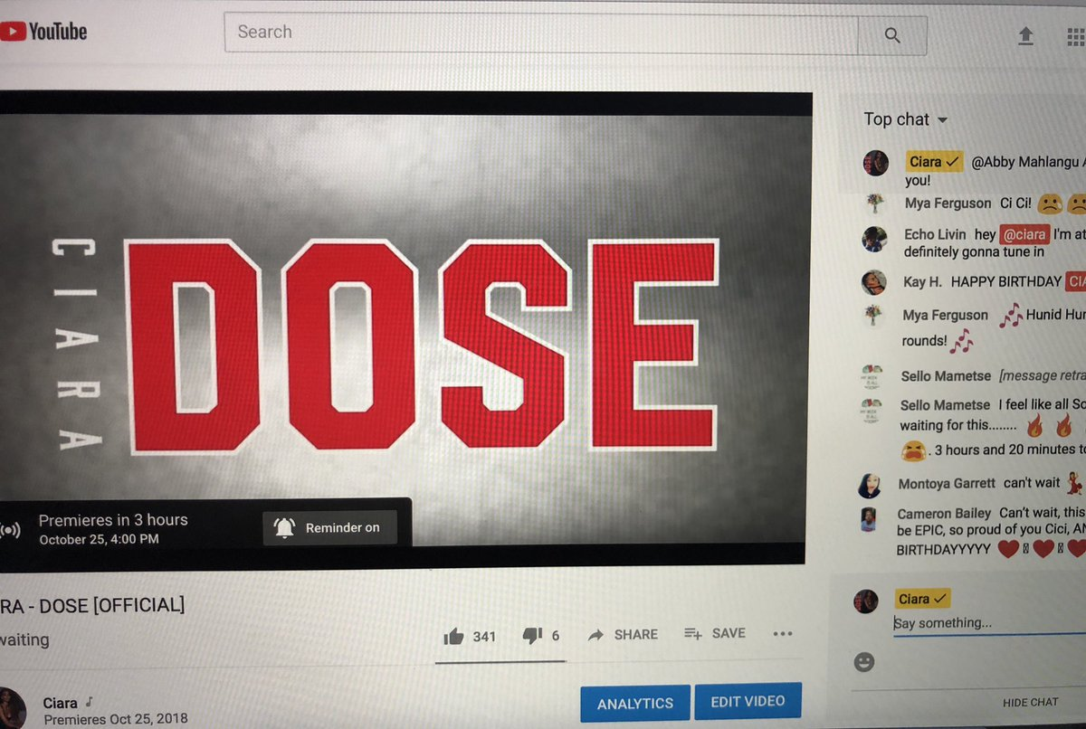 Come Watch the LIVE #DOSE Premiere with me on @Youtube! 4pm PST. Get an alert & chat now: https://t.co/miwwDhI5tO https://t.co/Sa2zCbFZgS