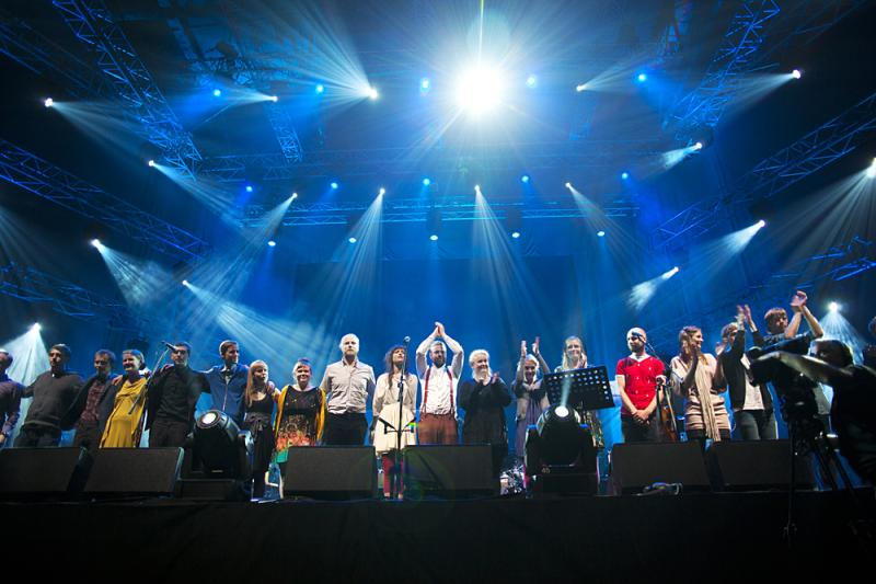 test Twitter Media - múm & Friends at @SacrumProfanum festival in Krakow about 8 years ago. A lot of people on stage, at some points more than a 100 with string section and choir. (photo by Tomasz Wiech). https://t.co/mg2aTwyFRn