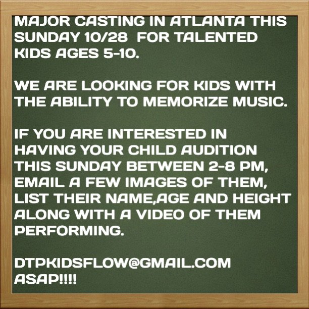 Attention Parents with Talented Kids in GA! https://t.co/SMfaBR2Tw3