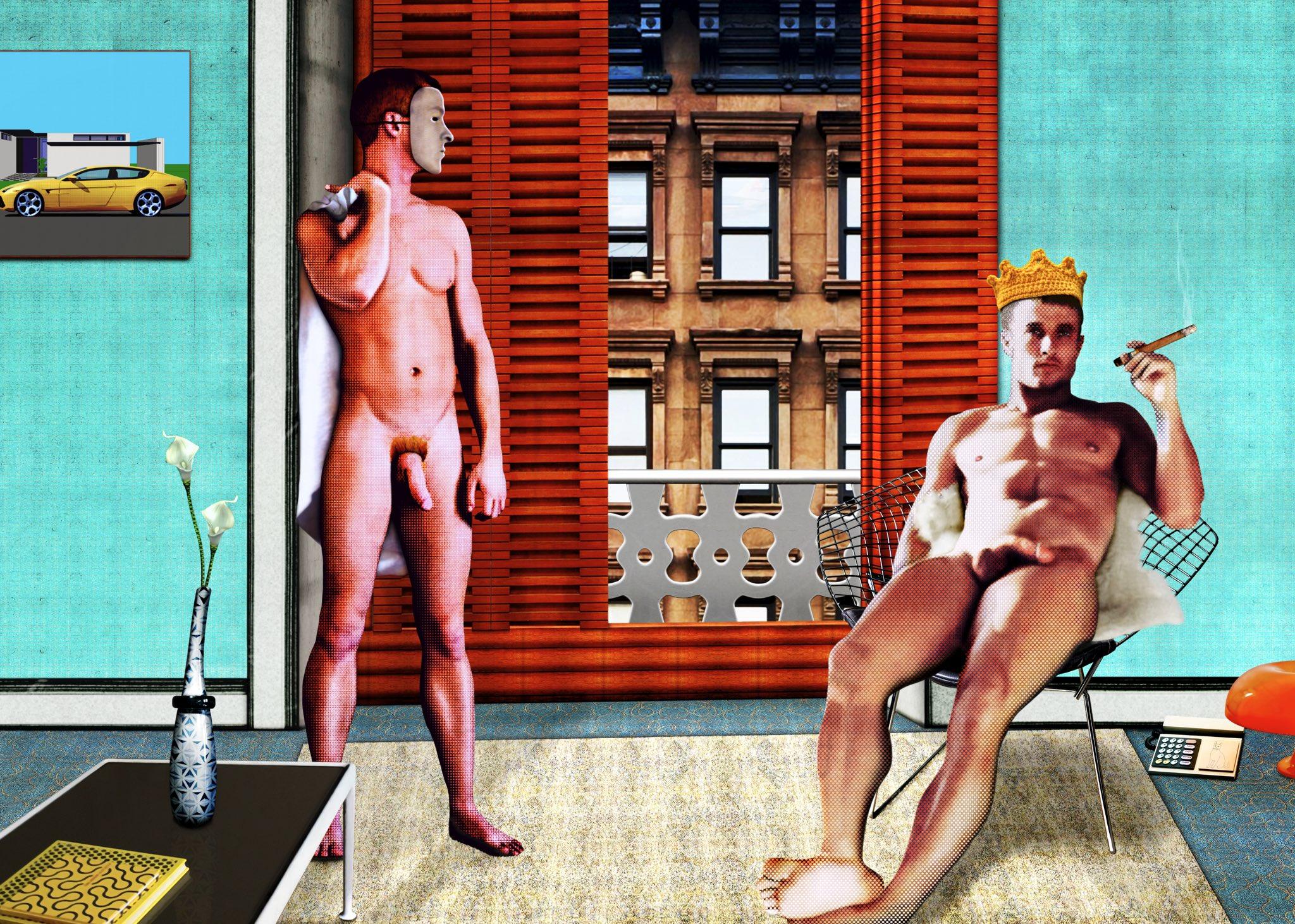 New work based on #Hockney #art #men #gaymen #print #cprint https://t.co/rAouXRk7z6