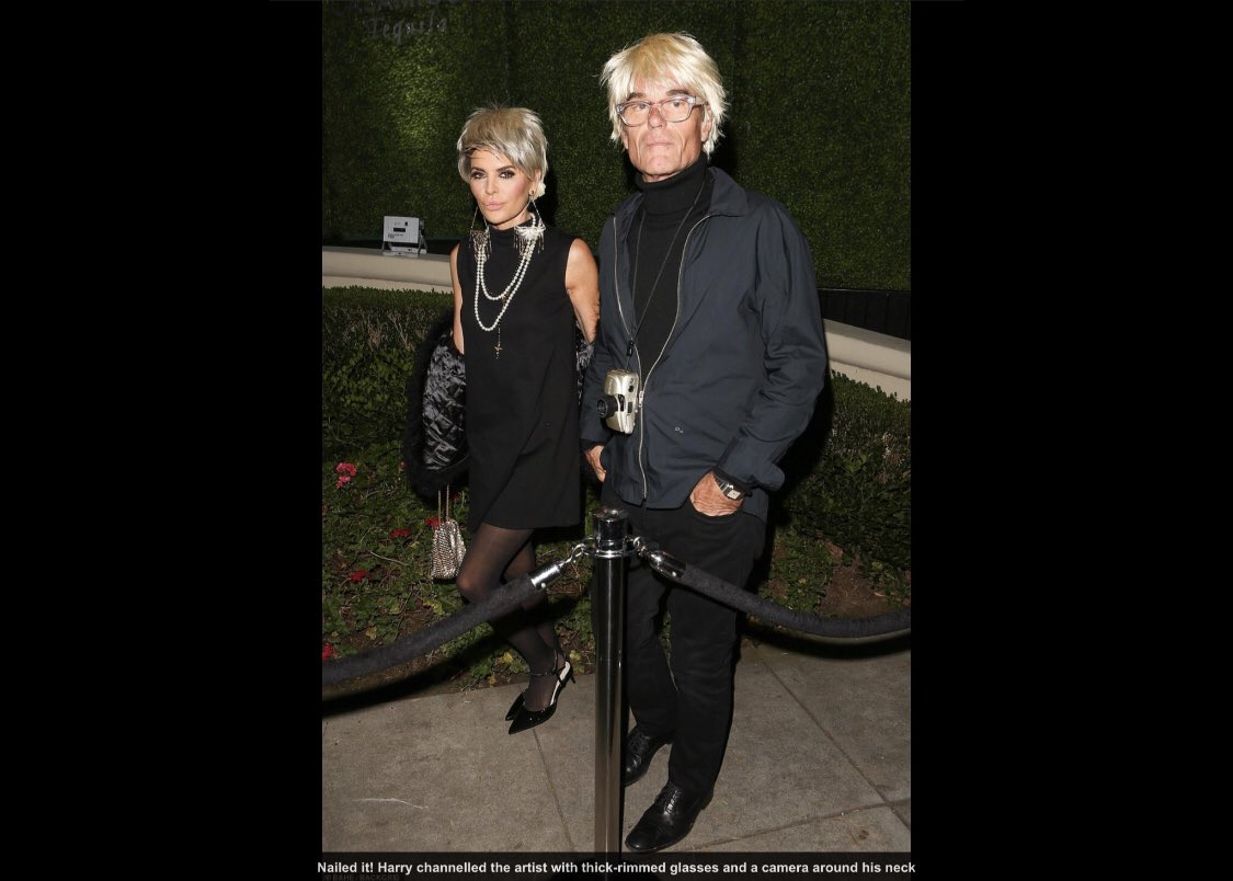 About last night...Andy Warhol and Edie Sedgwick ???? @Casamigos #Halloween https://t.co/2ltk8QoskA