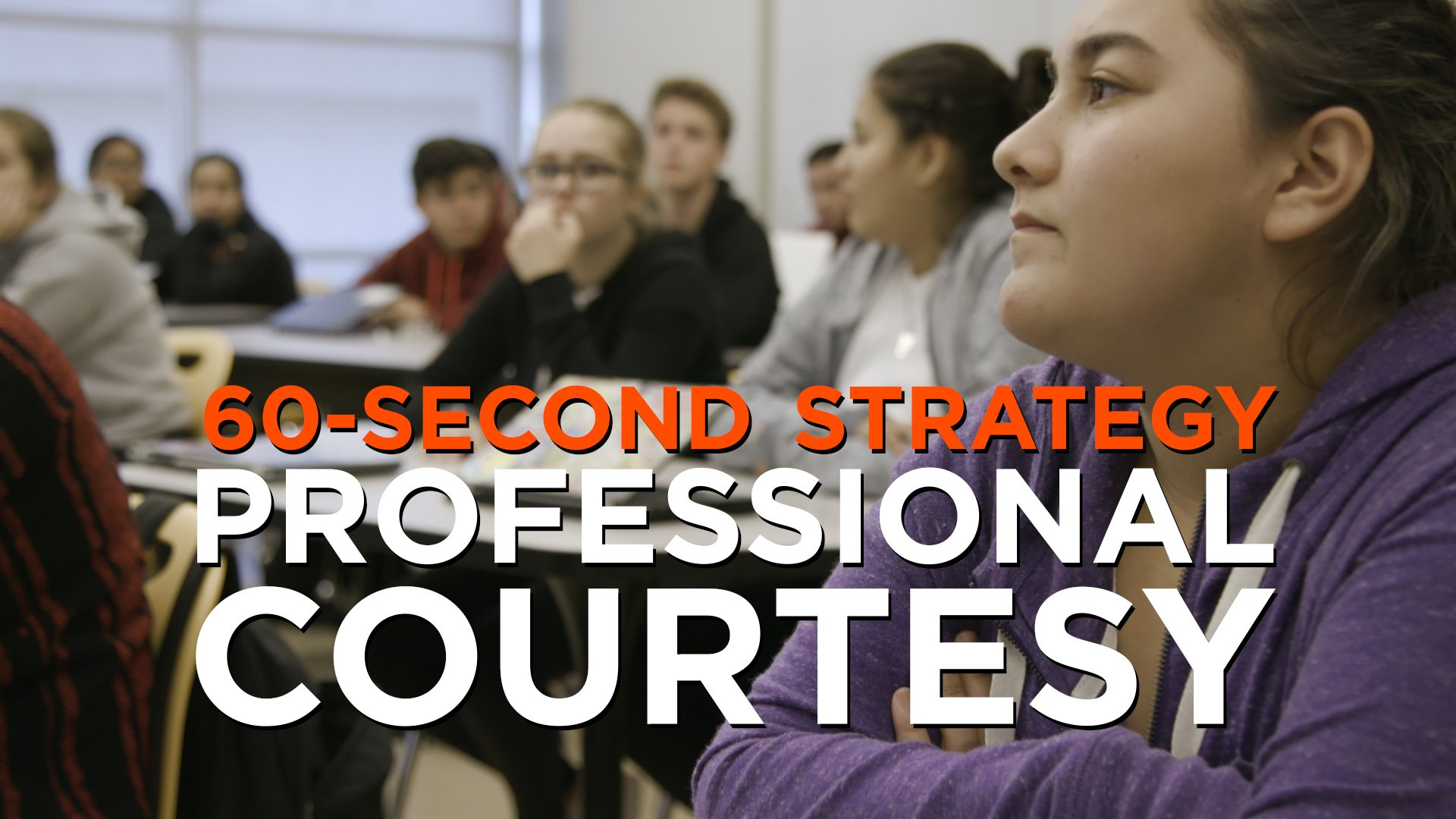"""Computers at half-mast. Headphones out. Undivided attention. In """"professional courtesy,"""" students are fully present with their teachers. https://t.co/GTi0Q60edP"""