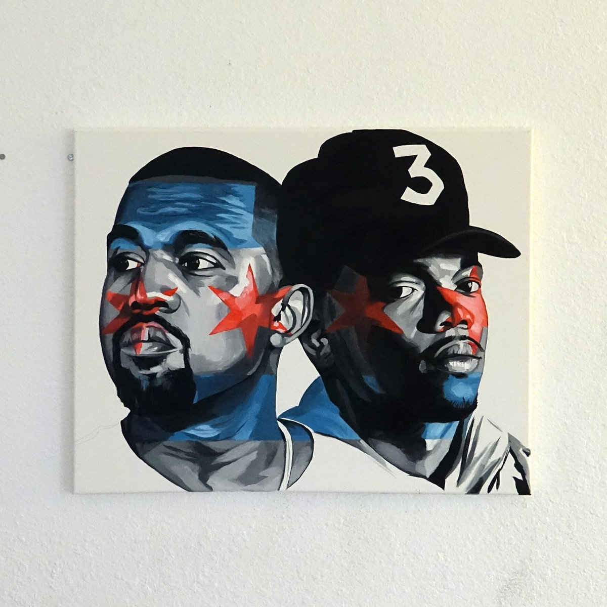 RT @Maha_Sattva: @kanyewest my painting commemorating your and Chances contributions to Chicago https://t.co/00rMyfQYSY