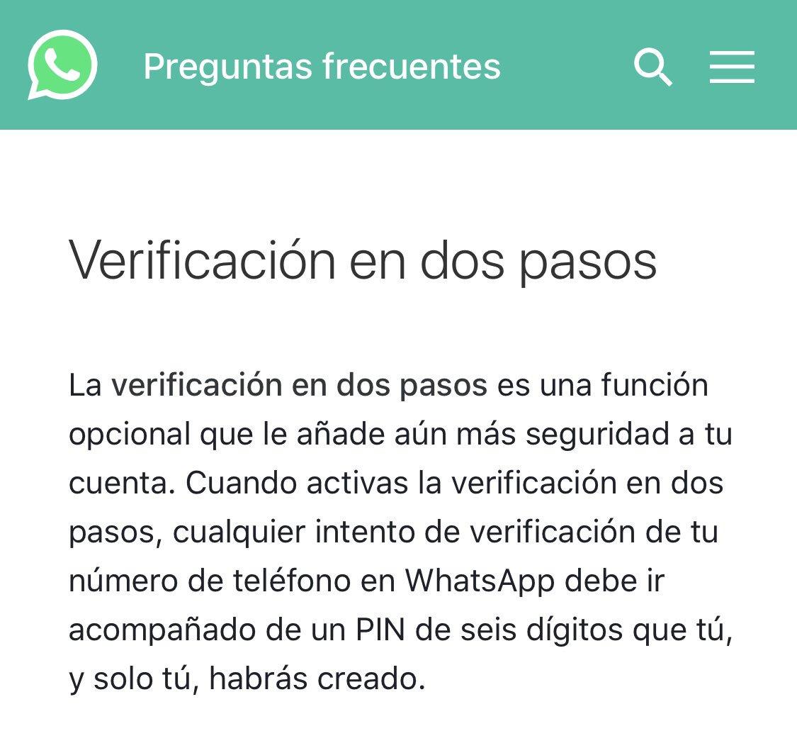 Recién en @AlFinSucede951 hablamos sobre cómo proteger nuestro #WhatsApp, aquí comparto el enlace oficial donde se explica la verificación en dos pasos. Es muy recomendable hacerlo. https://t.co/vb9ZgwSXXU