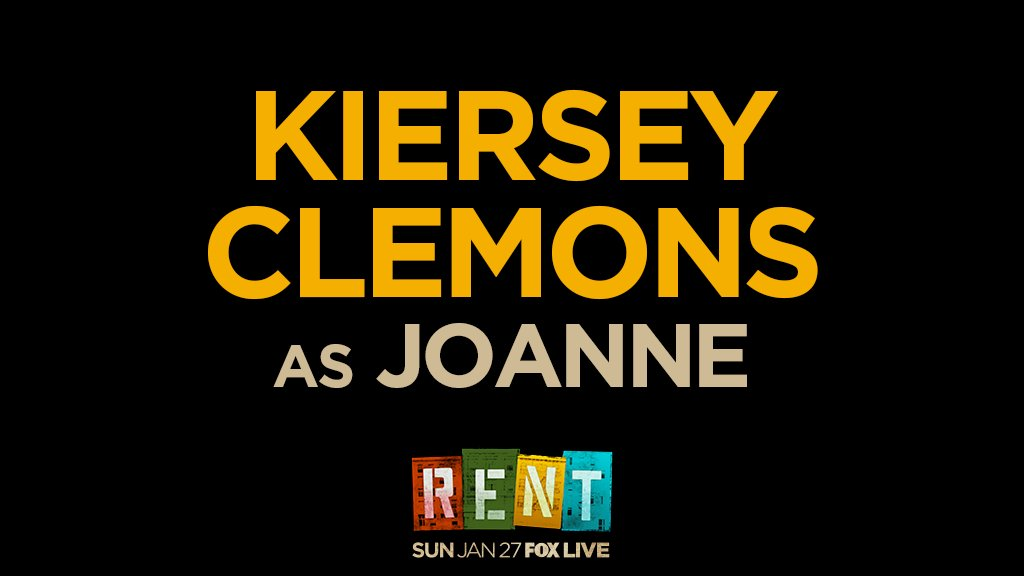 RT @RENTonFOX: She's a prize you don't compromise — introducing @KierseyClemons as Joanne! ???? #RENT https://t.co/UiT60BOtv1