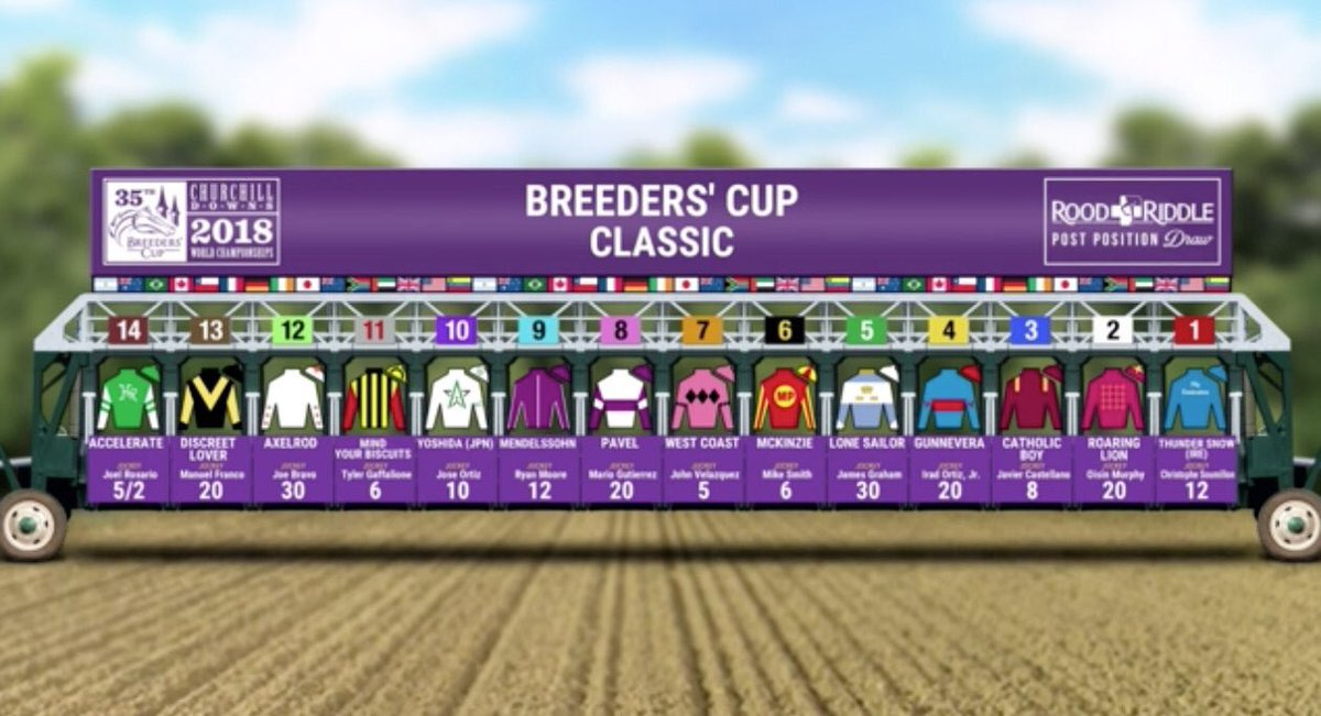test Twitter Media - Drew the #️⃣11 in both the @BreedersCup Distaff with Monomoy Girl and Classic with Mind Your Biscuits. Sure hope it's a lucky post on Saturday! Been a tremendous ride with both horses in '18 fun to be in with a huge shot in the 2 biggest races on BC card https://t.co/Ig9ljgSyHn