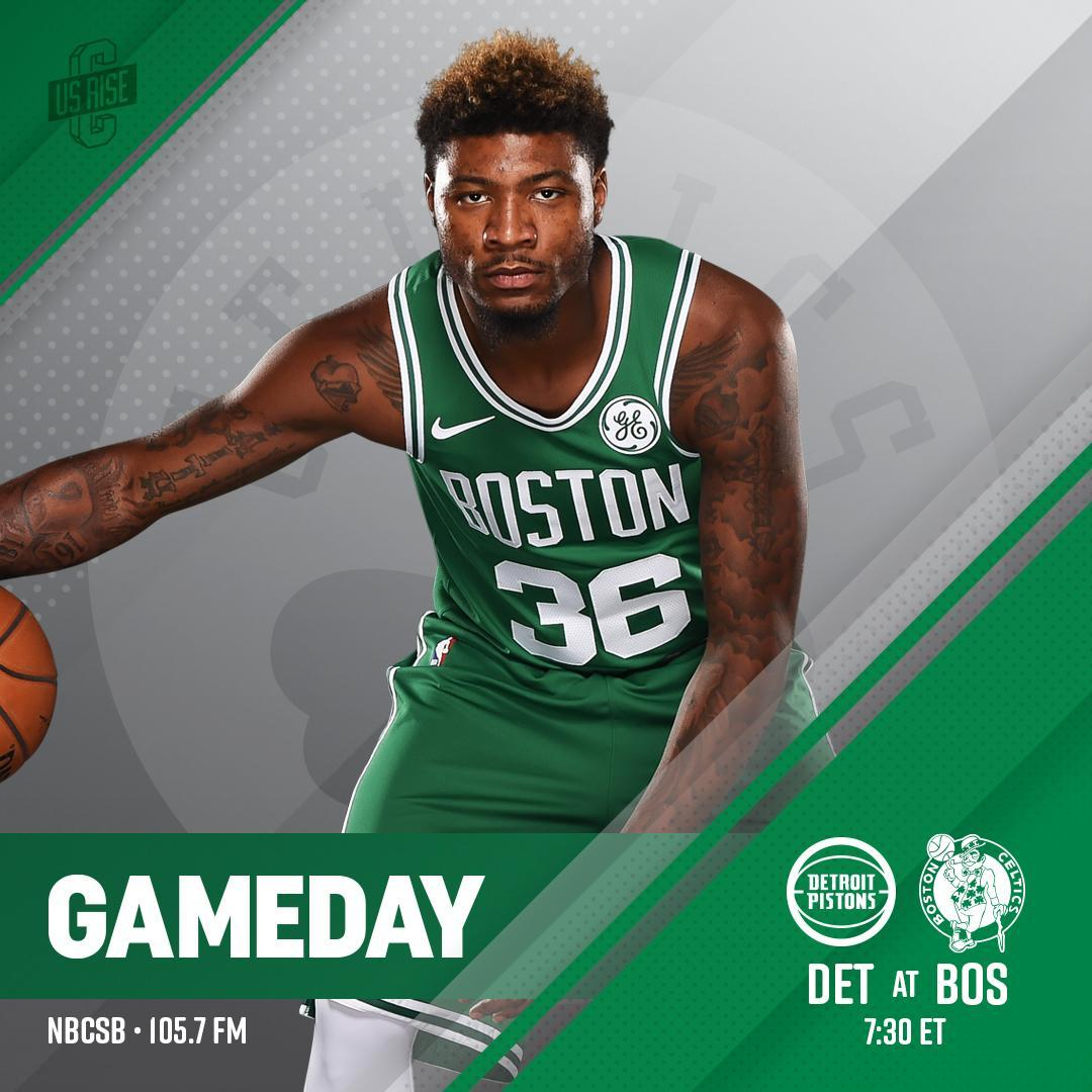 f9545832e TONIGHT ☘ Celtics vs  DetroitPistons 📍 tdgarden 🕗 7 30 p.m. 📺   NBCSBoston 🎙 1057WROR https   t.co VHSDvItj86