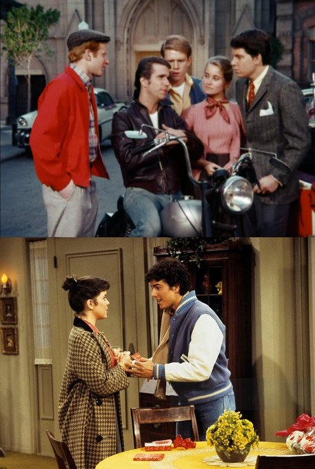 "TV 1975 & \78: The Bradys on ""Happy Days\""! and Christopher Knight. Happy Birthday"