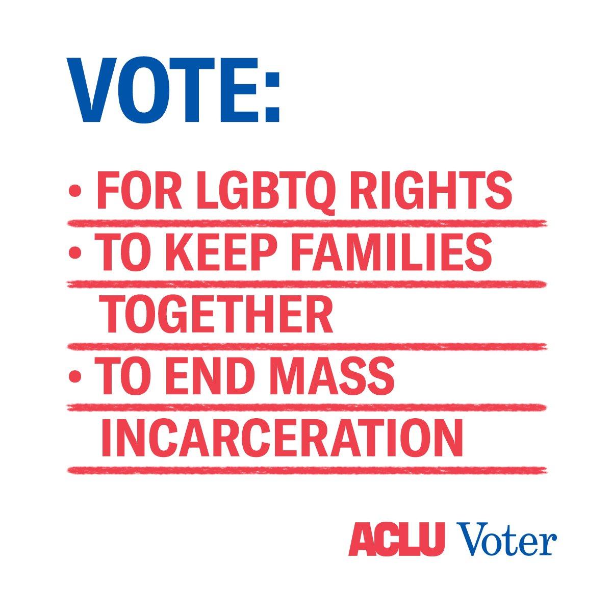 VOTE. November 6. @ACLU- Team Sia https://t.co/hYUOqokjXQ
