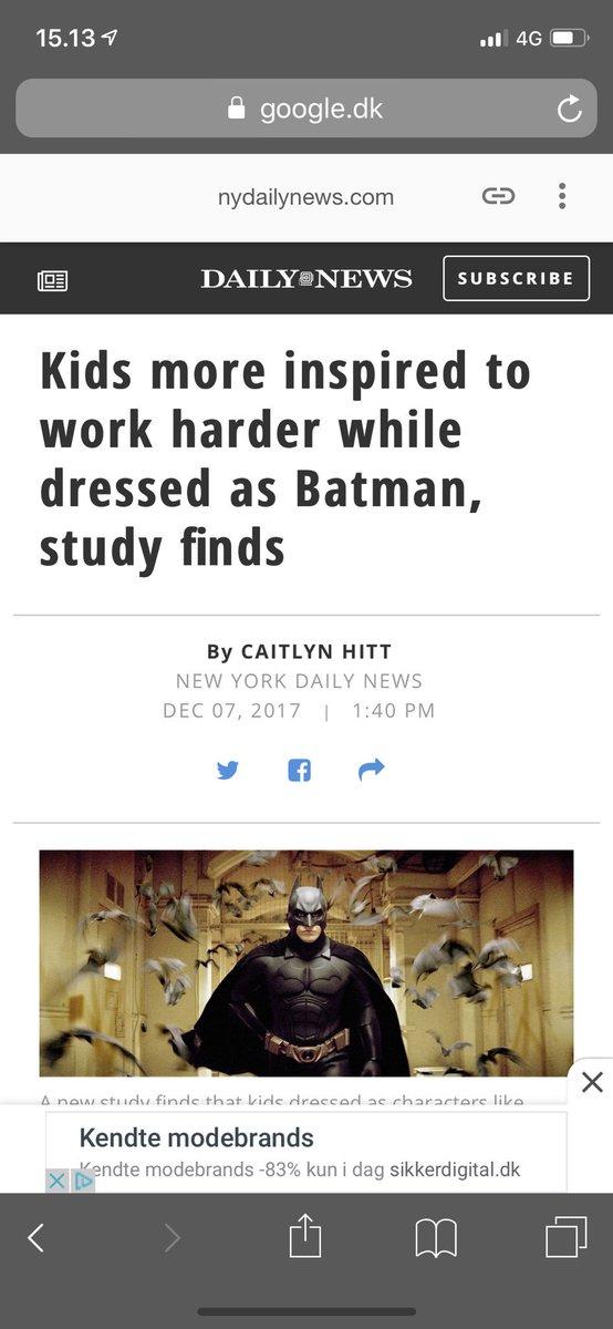 test Twitter Media - I morgen møder jeg på arbejde som Batman @gpvgladsaxe #skolechat https://t.co/MzcwABhxvb