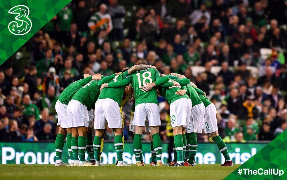 Best of luck to the #IRLMNT answering #TheCallUp tonight against Northern Ireland! Come On You Boys In Green! 🇮🇪 https://t.co/wl60JIrz3X