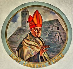 test Twitter Media - At the age of 25, St. Lawrence O'Toole was called on to become abbot of the Abbey of St. Kevin in Glendalough, Ireland. St. Lawrence was known for his piety, charity, & prudence. On his Feast day, we ask St Lawrence, Archbishop of Dublin, to pray for us. https://t.co/d8vgzQ1Ywu