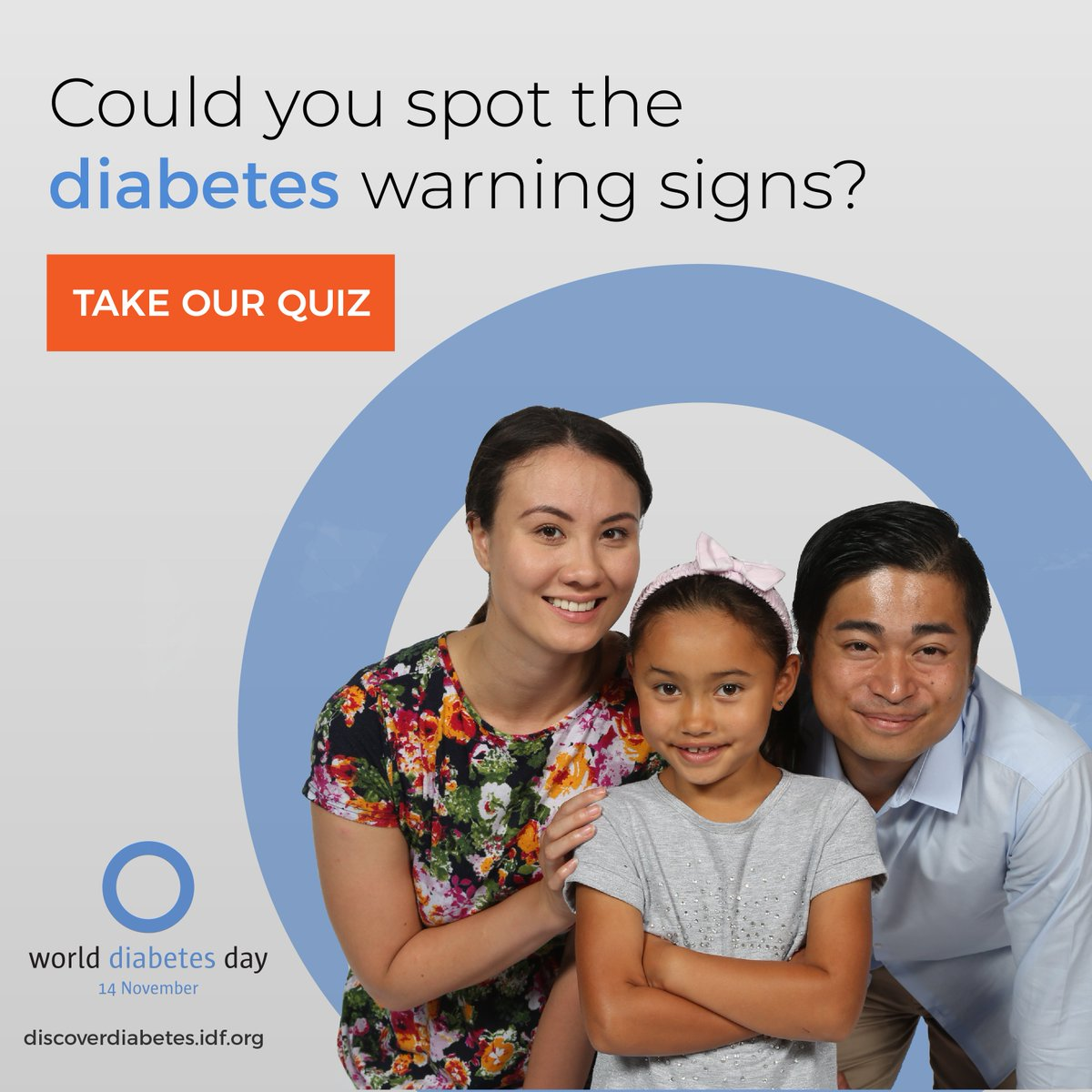 test Twitter Media - Today, on #WorldDiabetesDay get the whole family involved and test each other on the warning signs of #diabetes. You might surprise yourself with how much you know! After all, this #WDD2018 is all about family support #familyanddiabetes https://t.co/7g7vmYMG8n https://t.co/S5pVLl6yJ8